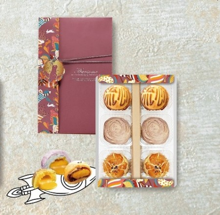 典藏流心菓饌禮盒(流心奶黃+流心芋頭+蛋黃酥)