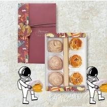 流心芋頭酥+酥脆蛋黃酥(6入)